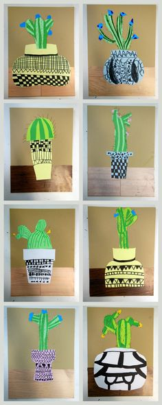 cactussen naar Jonas Wood - papier