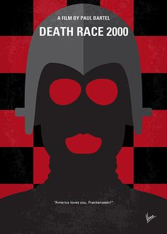 No367 My Death Race 2000 minimal movie poster