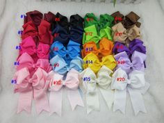 Cheap bow lace, Buy Quality bow type directly from China bow clip Suppliers: 5inch grosgrain ribbon cheer bow WITH clip,buotique hair bows for children cheer leading bows for hair accessories 20pcs