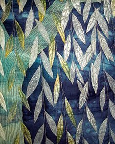 Willow Moon Detail, Betty Busby, fabric art
