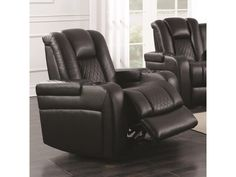 Shop for Contemporary Style Padded Plush Leatherette Power Recliner, Dark Brown. Get free delivery On EVERYTHING* Overstock - Your Online Furniture Shop! Living Room Chairs, Living Room Furniture, Fine Furniture, Wall Hugger Recliners, Power Recliners, Stylish Recliners, Modern Recliner, Chair Types, Swinging Chair