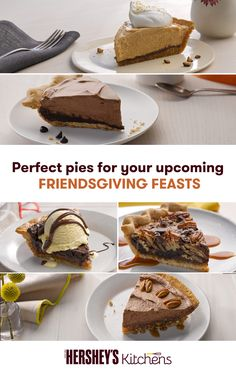 This Friendsgiving, give your guests the sweetest treat around – pie! Whether you love pecan or praline, find delicious recipes using HERSHEY'S Cocoa and create the perfect pie this Thanksgiving holiday.