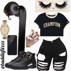 baddie outfits for spring Swag Outfits For Girls, Boujee Outfits, Teenage Girl Outfits, Cute Outfits For School, Cute Casual Outfits, Teen Fashion Outfits, Sporty Outfits, Dope Outfits, Cute Summer Outfits