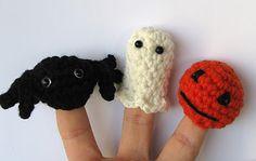 Lady Crochet: Halloween crochet finger puppets