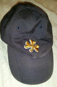 b325106f0b3 NOTRE DAME UNIVERSITY FITTED M CAP HAT FRANCHISE 100% COTTON GOLD CLOVER   NOTREDAME Notre