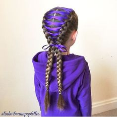 The color of this ribbon!  Corset braid done by @tinkerbeannpoplettes  #braidsforlittlegirls