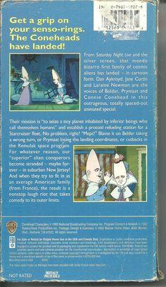 THE CONEHEADS Animated Special VHS Dan Aykroyd, Jane Curtain RARE OOP HTF | eBay