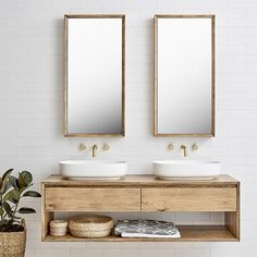 Furniture Baxter Double Timber Vanity - -Loughlin Furniture Baxter Double Timber Vanity - - the insider secrets of lovely contemporary bathroom designs discovered 7 Laundry In Bathroom, Small Bathroom, Master Bathroom, Vanity Bathroom, Bathroom Art, Natural Bathroom, Bathroom Hardware, Gold Hardware, Bad Inspiration