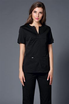2017 Summer women hospital medical scrub clothes set dental clinic and beauty salon nurse uniform fashionable design slim fit Light Blue Color, Navy Color, Salon Uniform, Spa Uniform, Uniform Clothes, Safety Workwear, Work Uniforms, Nurse Uniforms, Medical Scrubs
