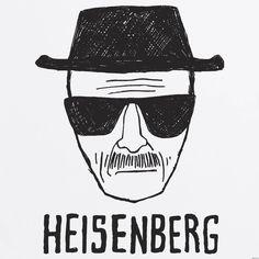 Heisenberg Drawing, drawing of walter white dressed as hisenberg