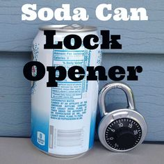 Open Pad Locks and Combination Locks With A Soda Can #lock_picking #hack