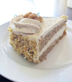 The Baking Life: Diós Torta or Walnut Torte with Walnut Custard Buttercream Hungarian Desserts, Hungarian Cake, Hungarian Recipes, Hungarian Food, Hungarian Cuisine, Slovak Recipes, Austrian Recipes, Ukrainian Recipes, Walnut Torte Recipe