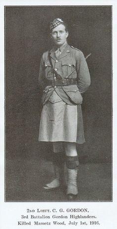 2nd Lt Colin Graham Gordon, Gordon Higlanders killed first day of the Battle of the Somme, aged 25. -The Somme 19240 |  2ème Lt Colin Graham Gordon, Gordon Highlanders tué premier jour de la bataille de la Somme, âgé 25. -La Somme 19240 | Gazouillement