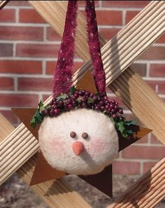 FREE Primitive Snowmen Ornies and Primitive Grungy Stockings E-Patterns From Cindy Markovcy of Homespun From The Heart. Great gifts to make and give away. Primitive Christmas Crafts, Primitive Snowmen, Diy Christmas Ornaments, Country Christmas, Christmas Snowman, Christmas Cards, Christmas Decorations, Primitive Decor, Merry Christmas