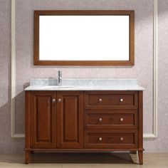 "LILY 55"" Traditional Single Sink Bathroom Vanity"