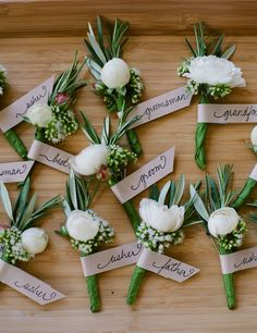 Don't forget to order boutonnieres for the fathers of the bride and groom, the ushers, and the ring bearer.
