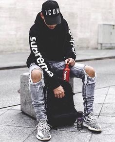 urban mens fashion which looks amazing 69176 Style Streetwear, Streetwear Fashion, Streetwear Brands, Latest Mens Fashion, Urban Fashion, Unisex Fashion, Fashion Brand, Men Looks, Hypebeast Outfit