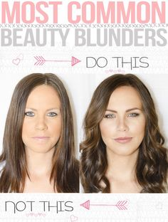 Common makeup mistakes. Simple tips that make a huge difference! (This is the same girl on the same day)