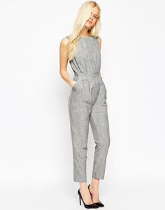 Image 1 of ASOS Tailored Jumpsuit In Texture