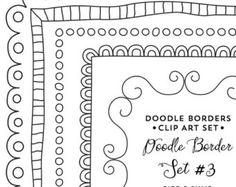 Doodle cadre Clip Art Clipart cadre frontières par PaulaKimStudio