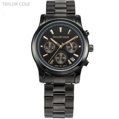 (31.01$)  Watch now - http://aitjn.worlditems.win/all/product.php?id=32263704867 - Taylor Cole Muse Women Dress Watches Relogio Feminino Auto Date Full Steel Strap Lady Quartz Clock Fashion Quartz Watches /TC008