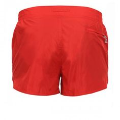 NYLON BOARDSHORTS WITH ELASTIC ADJUSTABLE WAISTBAND Pupboy II nylon Boardshorts with an elastic adjustable waistband, internal mesh, a zippered back pocket. COMPOSITION: 98% POLYAMIDE, 2% POLYURETHANE. Lining: 100% POLYESTER. Our model wears size M, he is 189 cm tall and weighs 86 Kg.