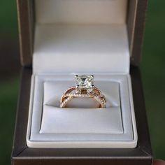 Rose Gold Diamond Engagement Ring