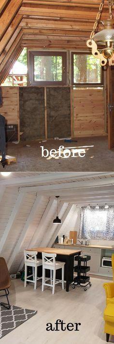 Metamorfoza domku letniskowego Brda. Summer house makeover. Farby Newcolours. #metamorfoza #DIY #remontdomku