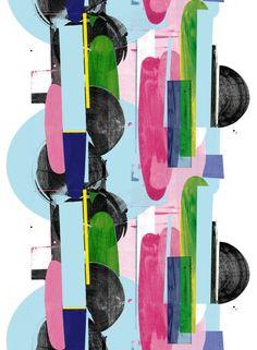 Vattenblänk-kangas (valkoinen,sininen,pinkki) |Kankaat, Puuvillakankaat | Marimekko