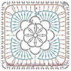 Transcendent Crochet a Solid Granny Square Ideas. Inconceivable Crochet a Solid Granny Square Ideas. Crochet Motif Patterns, Granny Square Crochet Pattern, Crochet Diagram, Crochet Chart, Crochet Squares, Crochet Granny, Diy Crochet, Crochet Designs, Granny Squares