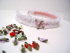 Pleated lace headband tutorial