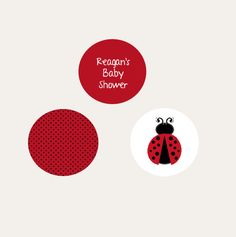 Ladybug Baby Shower Favors - Personalized - Lady Bug Candy Stickers - Little Lady Birthday Party Favors Ideas - 108 PRINTED Labels by PartyFavorsbyDesign on Etsy https://www.etsy.com/transaction/1013770280