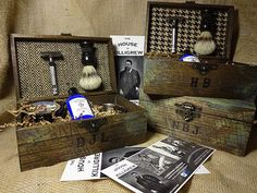 Items similar to Shave Kits  as cool Groomsmen Gifts - Vintage look shave kit ideas for groomsman rustic Fall Wedding on Etsy