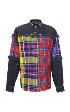 Denim Shirt by VERSACE for Preorder on Moda Operandi