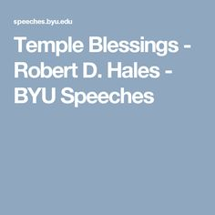 byu speeches temple