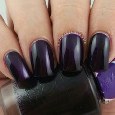 OPI Purple Perspective (over OPI Silver Canvas) swatched by Olivia Jade Nails
