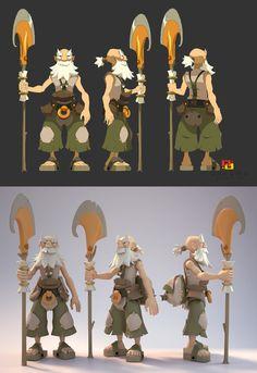 Ruel Action Figures - Ankama - Design Xavier Houssin - 3D Modeling Damien Levaufre Character Model Sheet, Game Character Design, Character Modeling, 3d Character, Character Design Inspiration, Character Concept, 3d Modeling, Zootopia Characters, Game Concept Art