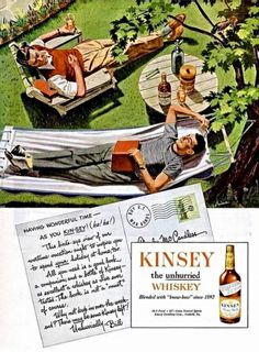 Homo History: An Unintentionally Gay Wiskey Ad from 1945!