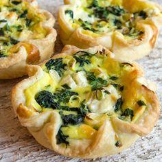 Baby Greens, Green Garlic & Garlic Chive Tarts | LunaCafe