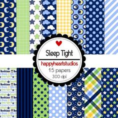 Digital Scrapbooking Sleep Tight INSTANT DOWNLOAD by azredhead, $1.50