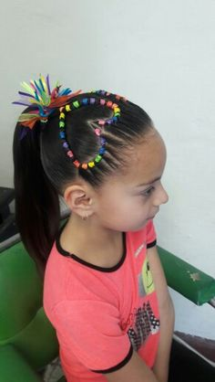 Corazón Cute Little Girl Hairstyles, Kids Braided Hairstyles, Toddler Hair Dos, Rubber Band Hairstyles, Long Hair Designs, Pretty Little Girls, Braids For Kids, Naturally Curly, Hair Cuts