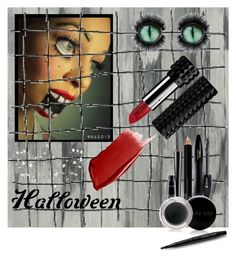 """HALLOWEEN"" by menina-ana ❤ liked on Polyvore featuring beauty, Designers Guild, Lancôme, Isadora, MAC Cosmetics, Mary Kay, Kat Von D, Hourglass Cosmetics, Moooi and halloweenmakeup"