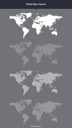 Free World Map Vector Mock-ups/ Templates