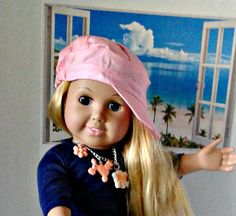 Adorable Pink Cap for American Girl & 18 Dolls by DreamyDollsLife American Girl Clothes, 18th, Girl Outfits, Cap, Dolls, Trending Outfits, Unique, Pink, Vintage
