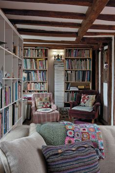 Whatever is lovely cozy library, library room, library design, reading nook Cozy Library, Library Room, Library Design, Future Library, Library Bookshelves, Bookshelves In Bedroom, Bookcases, Cosy Home, Library Inspiration