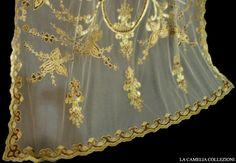 tende in tulle con dettagli in velluto - particolare in oro - 05 - la camelia collezioni
