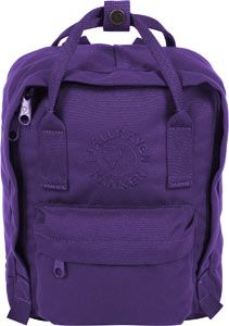 Fjällräven Re-Kanken Mini kids daypack purple