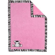 Baby Boom I Luv Zebra Plush Blanket