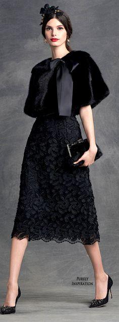 Dolce&Gabbana Winter Collection Women's Fashion RTW | Purely Inspiration     Goth Ladylike Chic.