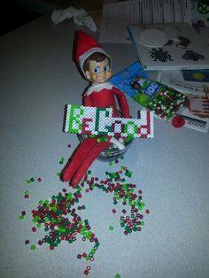 Elf on the shelf uses perler beads